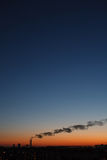 Evening industrial landscape Royalty Free Stock Photo