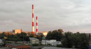 Evening industrial landscape Stock Images
