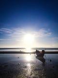 Evening Island stock photo