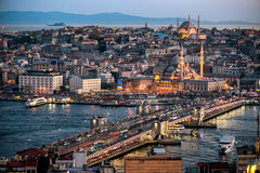 Evening Istanbul view Royalty Free Stock Photos