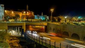 The evening in Jerusalem stock video