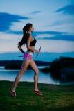 Evening jogging Fotografia Stock