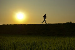 Evening jogging Royalty Free Stock Photos