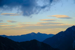 Evening. In the Julian Alps Royalty Free Stock Photography