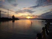An evening in kampung atas air Stock Photography
