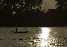 An evening on Karnali river, Bardia national park, Nepal Stock Images