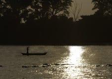An evening on Karnali river, Bardia national park, Nepal Stock Images