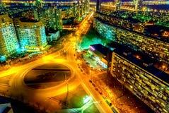 Evening in Kiev. Evening view of Kiev city (Berezniaki district Stock Image