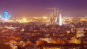 Evening  kind of Barcelona Royalty Free Stock Images