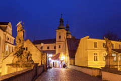 Evening in Klodzko, Poland. Klodzko, Lower Silesia, Poland Royalty Free Stock Image