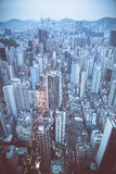 Evening in Kowloon District, Hong Kong, China Royalty Free Stock Photos