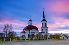Evening krajobraz kościół Zdjęcia Royalty Free
