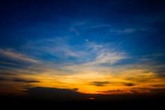Evening krajobraz w Bangkok, Tajlandia fotografia stock