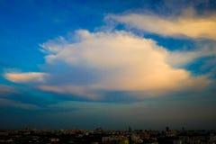 Evening krajobraz w Bangkok, Tajlandia obraz royalty free