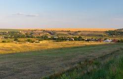 Evening krajobraz w Ukraina Obraz Royalty Free