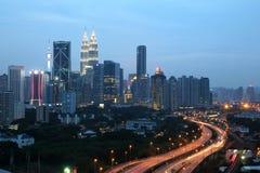 Evening in Kuala Lumpur, Malaysia Royalty Free Stock Photos