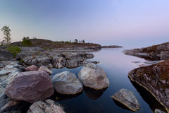 Evening in Ladoga lake Royalty Free Stock Photos