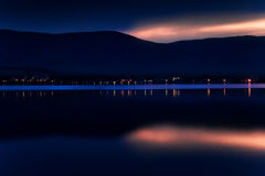 Evening on lake Stock Photography