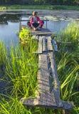 Evening on lake. Royalty Free Stock Photos