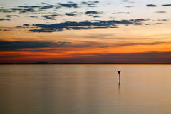 Evening at lake constance Stock Image