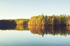 Evening on a Lake Stock Photography