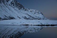 Evening at a Lake at Knutstad, Norway Royalty Free Stock Image