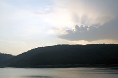 Evening lake Stock Photo