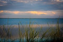 Evening on lake royalty free stock photography