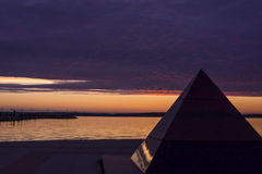Evening on lake quay Royalty Free Stock Photo