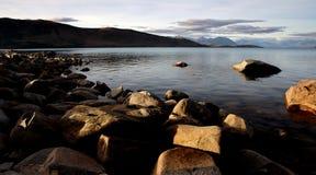 Evening at Lake Tekapo. NZ Royalty Free Stock Photo