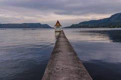 Evening on Lake Toba in Sumatra, Indonesia Stock Photos