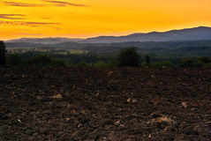 Evening landscape. View of evening landscape after sunset in month September Royalty Free Stock Photo