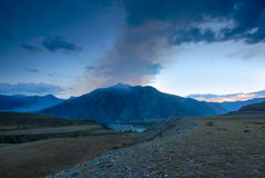 Evening landscape of the Altai Mountains Stock Photos