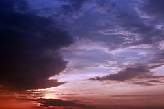 Evening landscape with clouds Stock Photography