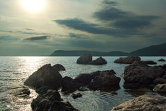 Evening landscape, on the coast of the Black Sea Stock Image