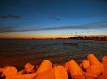 Evening landscape Hel peninsula. Stock Photos