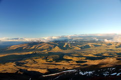 Evening landscape near Cotopaxi. Royalty Free Stock Photo