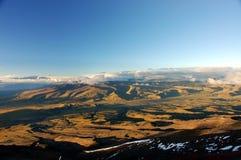 Evening landscape near Cotopaxi. Photo was taken from Jose Rivas Refuge, Cotopaxi, Ecuador Royalty Free Stock Photo