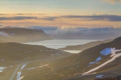 Evening landscape of Norway Stock Photo