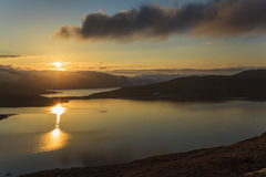 Evening landscape of  Norway Royalty Free Stock Photo