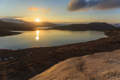 Evening landscape of  Norway Stock Images