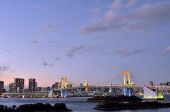 Evening landscape of Rainbow Bridge. Royalty Free Stock Photos
