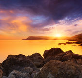 Magical Sunset by the sea Stock Image