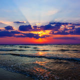 Evening landscape on sea Stock Photography