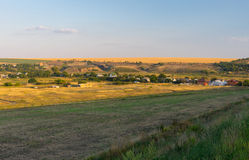 Evening landscape in Ukraine Royalty Free Stock Image
