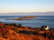 Evening Lekki na Próbnej wyspie od Anderson wzgórza, Wiktoria, b C fotografia stock
