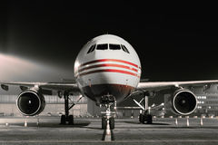 Evening lekkiego samolot obrazy royalty free