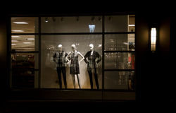Evening life of mannequins Stock Photography