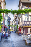 Evening life in Strasbourg old town, France, July 2014 Stock Photo