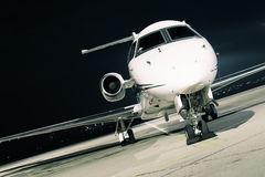 Evening light aircraft Royalty Free Stock Image